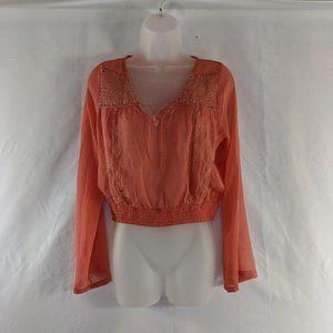 Cropped American Rags Sheer Top